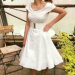 modell veronika klänning vit