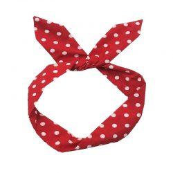 Rött hårband
