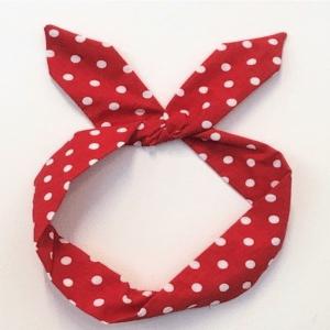 Rött hårband bandana retro