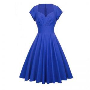 Elegant Klänning Kornblå Victoria