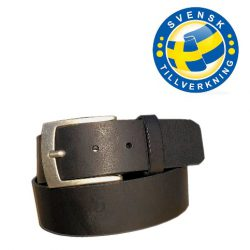 svart bälte silver spänne