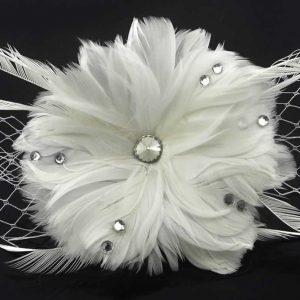 vit hatt glaspärlor