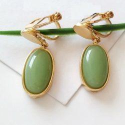 clipsörhänge olivgrön