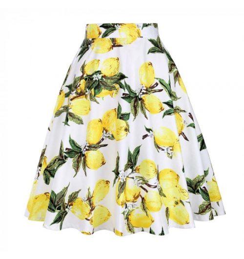 Cotronmönstrad swing kjol