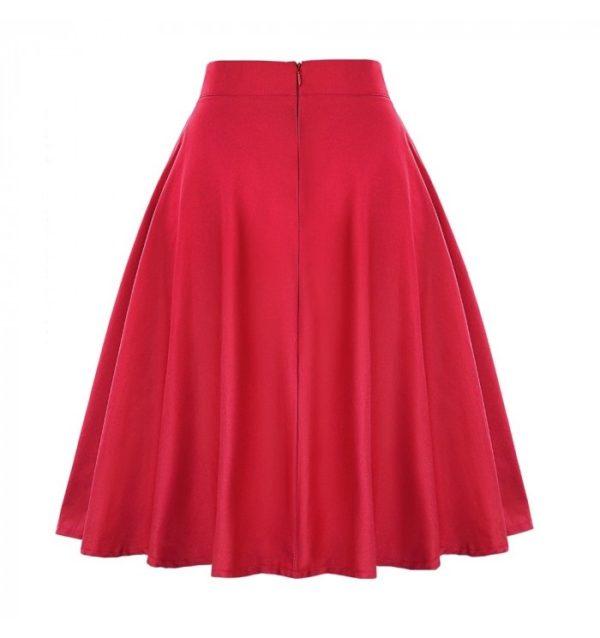 frida kjol röd bak