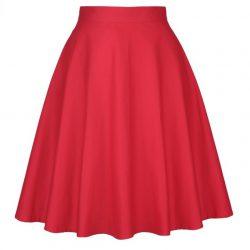 Röd swingkjol stor storlek