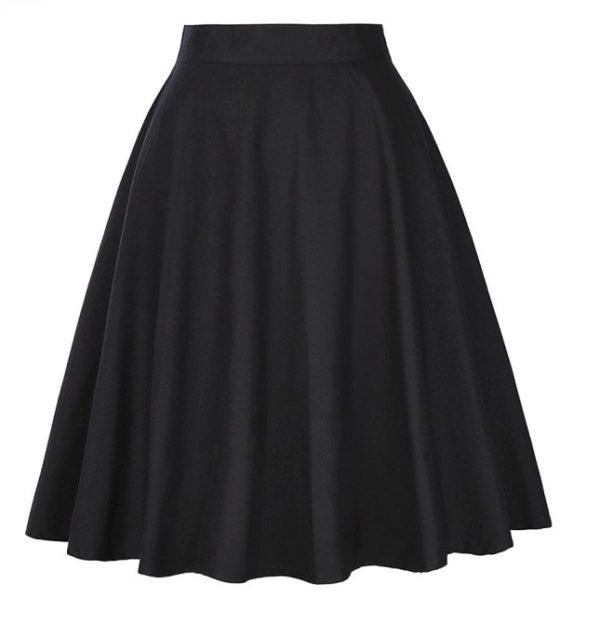 svart kjol fram