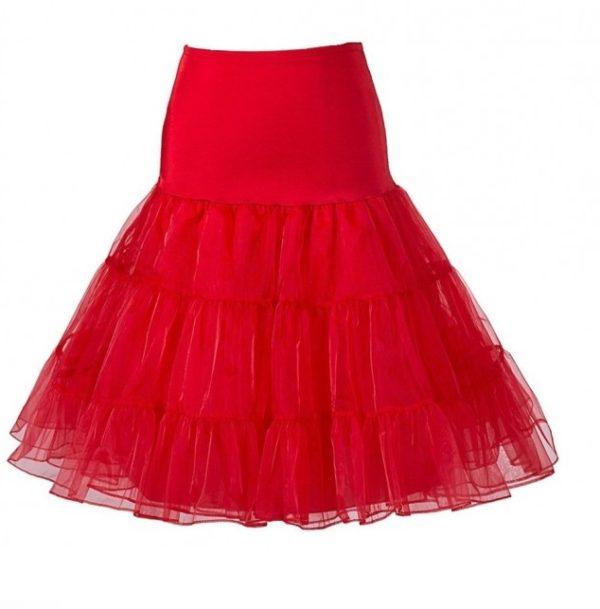 Röd underkjol