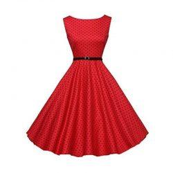Klänning Röd 50 tal Retro
