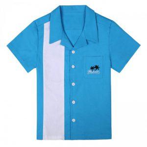 pojkskjorta blå hawaii