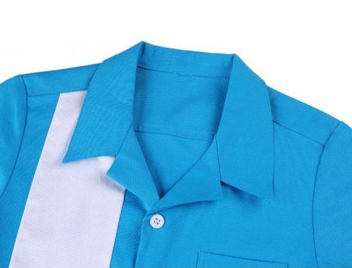 blå hawaii pojkskjorta krage