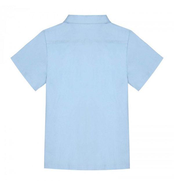 ljusblå vita ränder skjorta