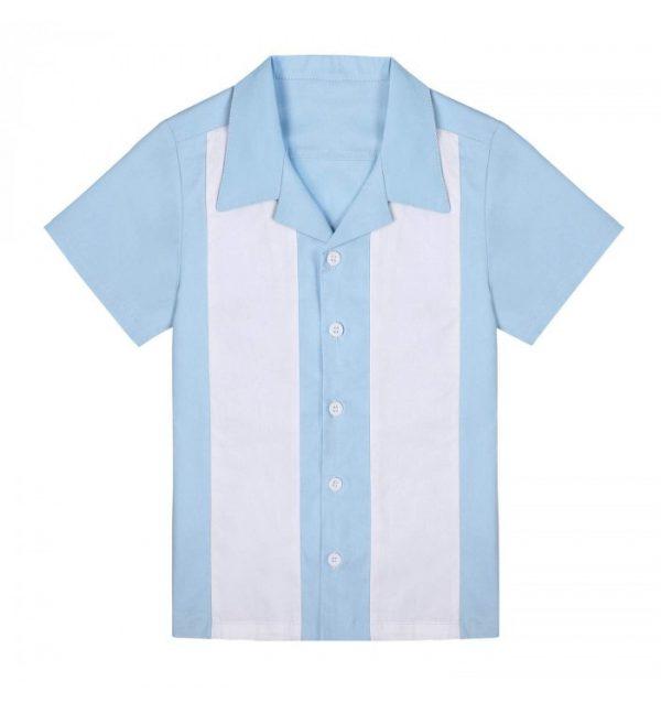 ljusblå pojkskjorta