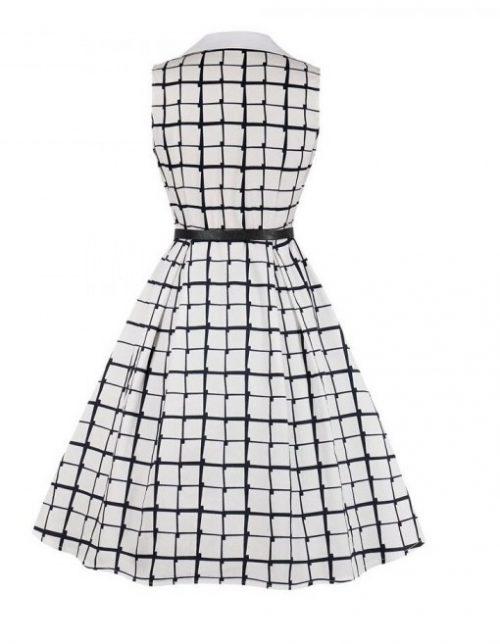 marin vit klänning bak