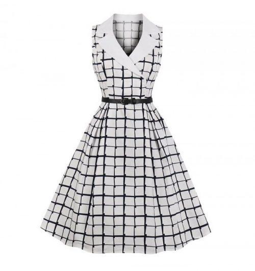 klänning maja vit marin fram