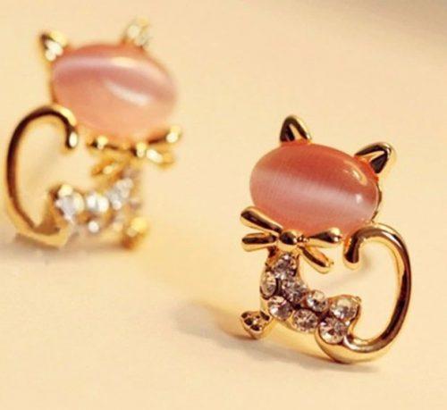 örhängen rosa katt