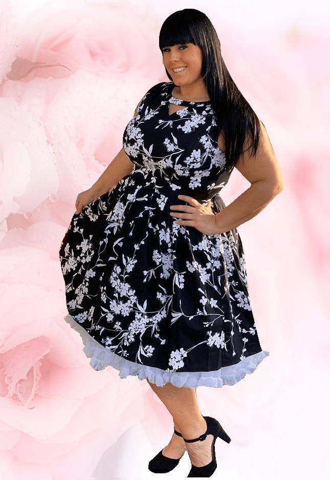 Glinder klänning svart plus size