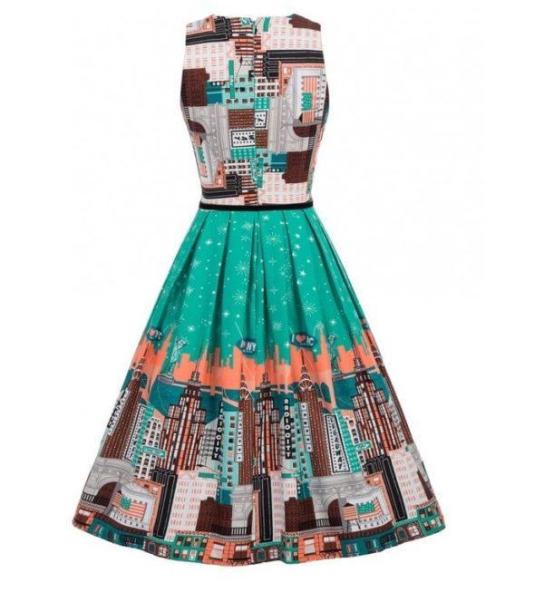 broadway klänning grön bak