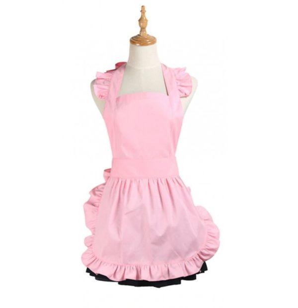 rosa förkläde