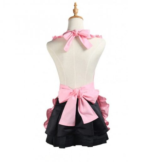 rosa förkläde bak