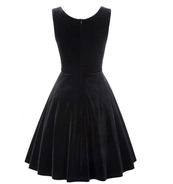 klänning sammet svart