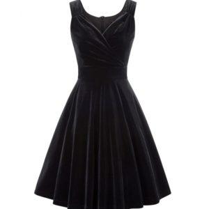 sammetsklänning svart