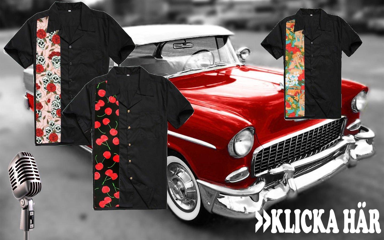 Snygga skjortor och rockabillyfrisyr
