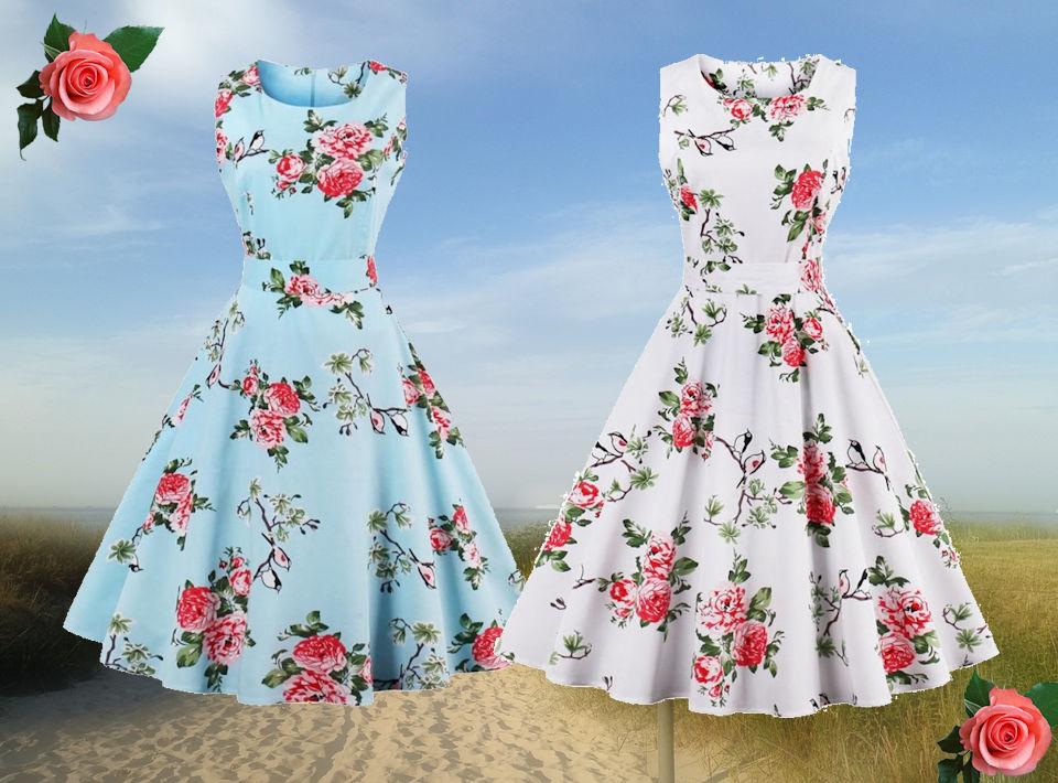 Massor med nya Tuffa Rockabilly klänningar för sommarens alla tillfällen