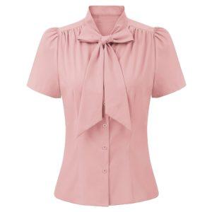 rosa knytblus fram