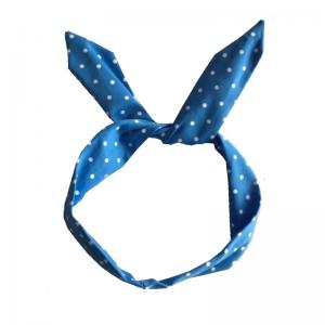 hårband blå med vita prickar