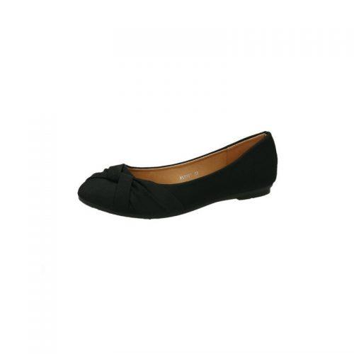 Glinder svart ballerina sko
