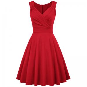 Röd Marilyn klänning