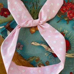 Hårband rosa bandana