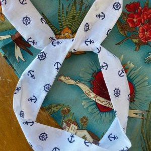 Hårband vit blå sailor