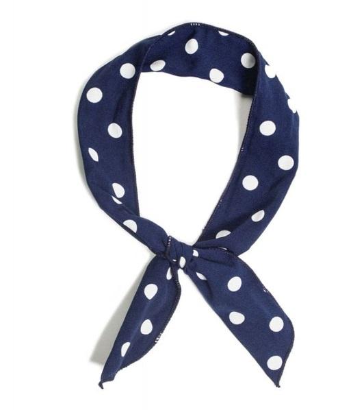 marinblå hårband