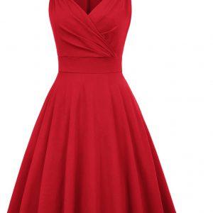Marilyn Klänning röd fram