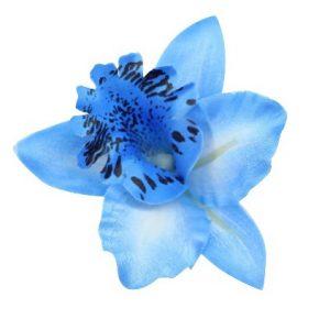 Hårspänne blå orkide