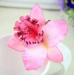 hårspänne ljusrosa orkide hårblomma