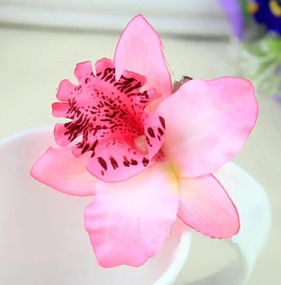 Ljusrosa orkide hårblomma