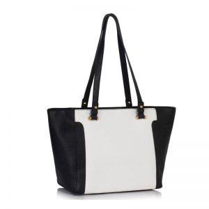 handväska svart vit