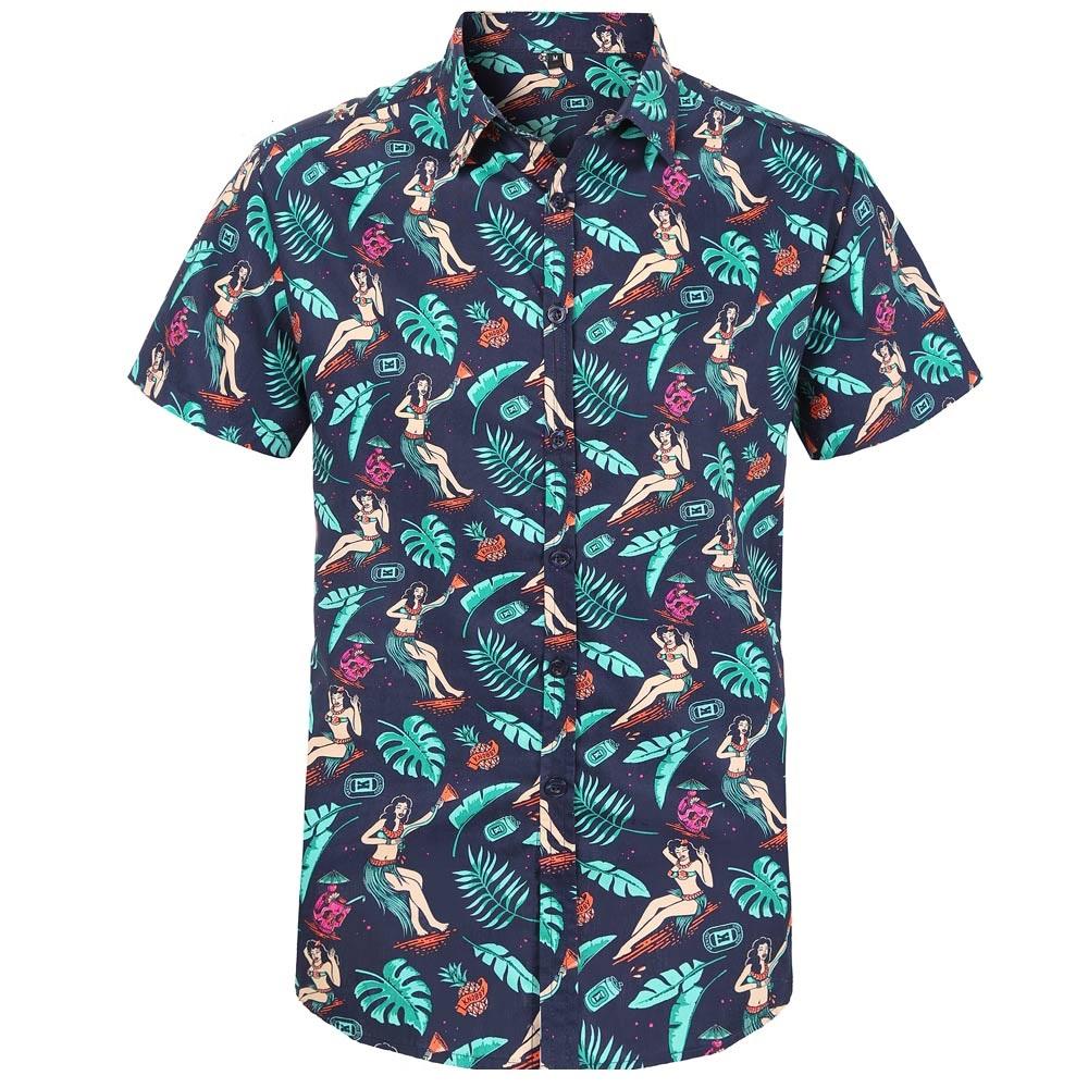 Blå hawaiiskjorta