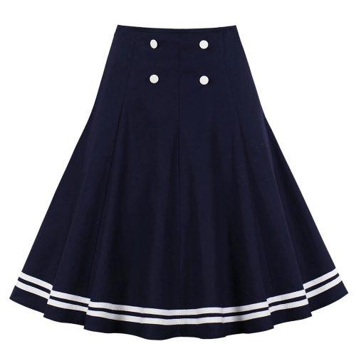 Marinblå swingkjol sailor
