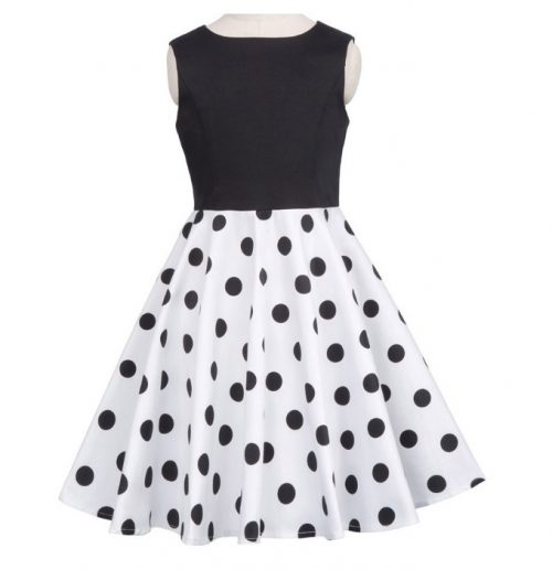 svart och vit barnklänning