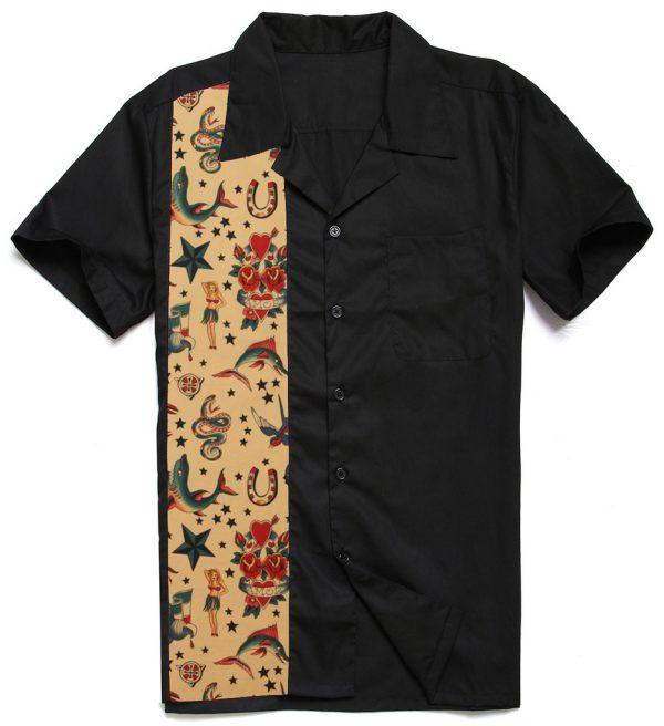 Herrskjorta goth mönster