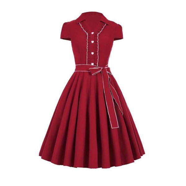 Röd singoalla klänning