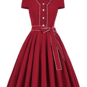 Röd singolla klänning