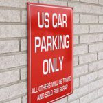 US car parking only