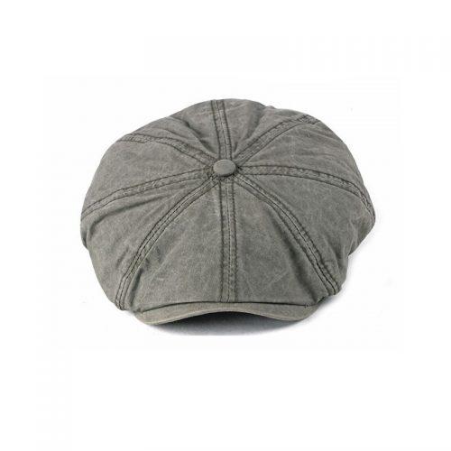Grå flat cap herrkeps