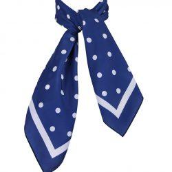 blå scharf med vita prickar dam