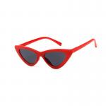Röda cat eye solglasögon